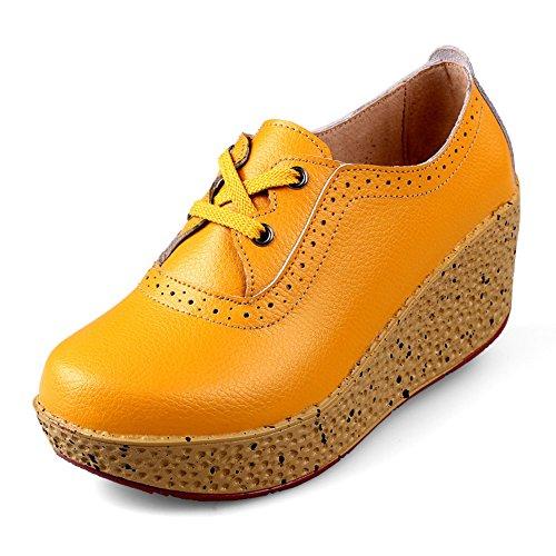 Chaussures printemps/Cales chaussures/Talon haut/Les souliers/Chaussures plateforme fond épais/Chaussure tête plate ronde F