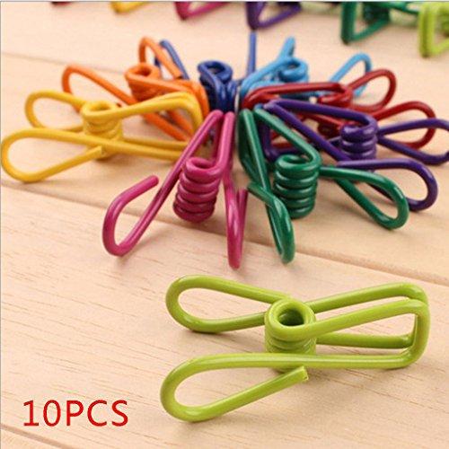 Dpolrs 10pcs Color Azar Abrazadera Metal Toalla Calcetines