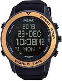 Pulsar Watches Gent's Modern Digital Sports Alarm Chronograph Watch