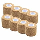 #8: Ranchoman Pack of 8 Non-Woven Self Adhesive Wrap Bandages, Strong Elastic Self Adherent Cohesive Tape Bandages Rolls