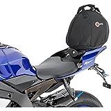 QBag Sac Moto Arrière sac de arrière/siège/casque 01 15 litres espace de stockage, Unisexe, Multipurpose, toute l'année, noir