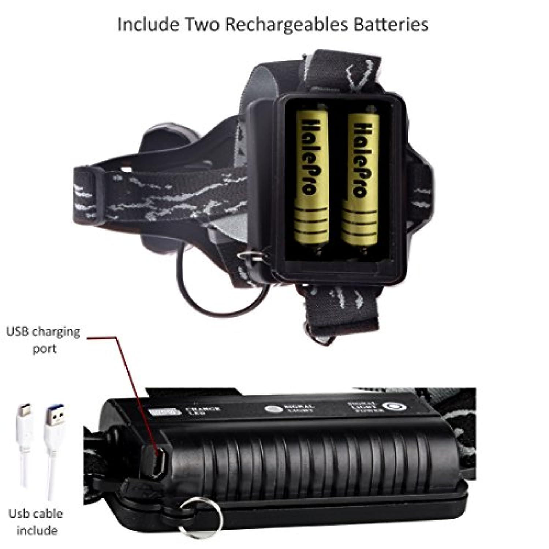 2 Câble Xml D'eclairage Cree RechargeableAvec Halepro Lampe Et PuissanteTorche Modes Usb Frontale 5 Led T66 kOP0nw