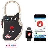 egeetouch® Smart da viaggio lucchetto con brevettato tecnologie, doppio accesso (NFC + BT), nelle vicinanze Tracking, etc. (Nero)