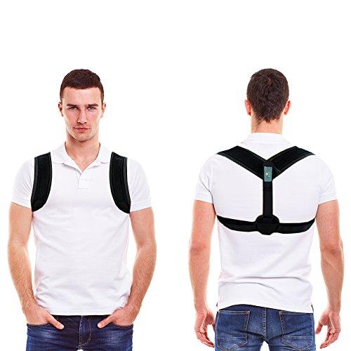Corrector de postura FAIT Cinturón con soporte lumbar - ligero acolchado ajustable clavícula corsé y médula espinal apoyo para hombres y mujeres- el dolor de espalda, hombro& Cuello alivio del dolor - Eliminar el encorvamiento y jorobado- Unitalla - perfecto para circular,Trabajo&ejercer