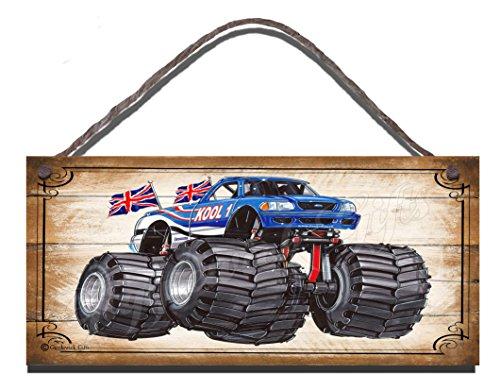 Gigglewick Gifts Holz-Schild zum Aufhängen, Monster Truck, Geburtstag Jahrestag-Geschenk Plaque. (Holz-monster-truck)