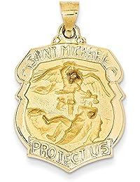 e8fcd6e430e Lex   Lu LAL89083 - Colgante de medalla de San Miguel satinado