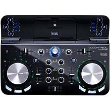 Hercules Control Wave - Controlador de DJ (Bluetooth 3.0, USB, 5 V, 1 A), color negro