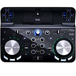 Hercules DJ Control Wave (2 Deck DJ Controller, Bluetooth, 8h Battery, DJUCED 40 °, PC / Mac / iOS)