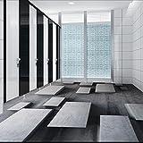 Lmopop Kundenspezifische Bodenfliesen-Wand-Papier-Steingitter-Fototapete Modernes 3D Wohnzimmer-Badezimmer-PVC- Bodenbelag-Aufkleber-Antiabnutzung300X210Cm