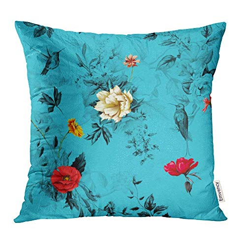 Zierkissenbezüge, Throw Pillow Covers, Cases Flowers Poppy Wild Roses Chamomile Camomile Cornflower with Lily of The Valley Print Pillowcases 18