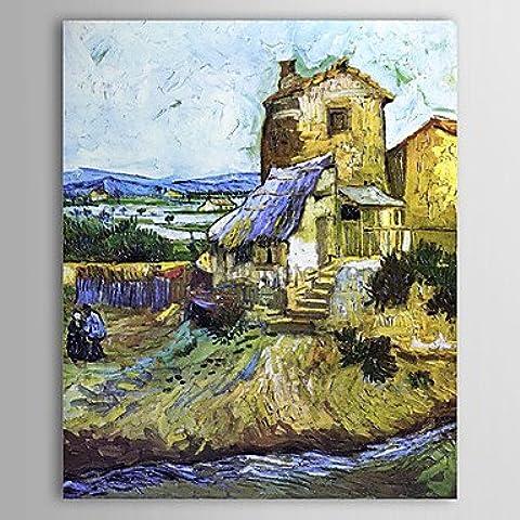 WSS Petróleo famoso cuadro An-viejo molino de Van Gogh