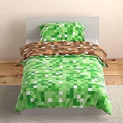 Weaver Bay - Green/Brown Pixel Reversible Bedding Set - - cheap UK light store.