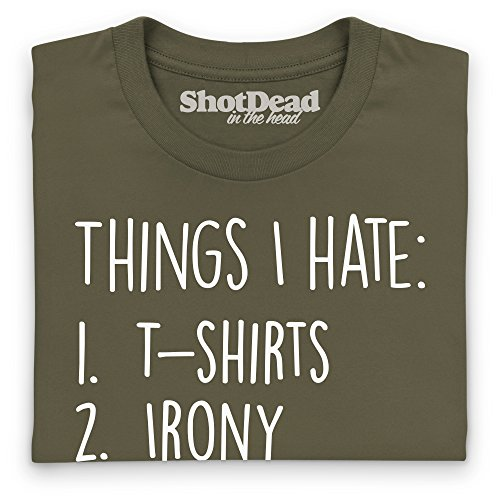 Things I Hate T-Shirt, Herren Olivgrn
