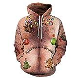 MTUZENDEE Herren Pullover 3D Druck Hoodies Weihnachten Kapuzenpulli  Sweatshirt Kapuzenjacke (Khaki, S-M) 62f1b11645