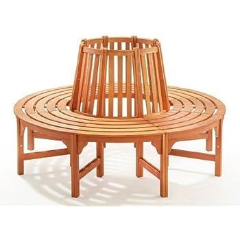 baumbank fontana 160cm eukalyptus holz fsc gartenm bel bank baum rundbank holzbank. Black Bedroom Furniture Sets. Home Design Ideas