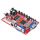 Walfront VGA to RGBS/CGA/AV/S Video Converter High to Low Solution Board for Arcade Game with Cable
