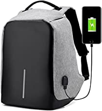 Teconica BW-1860 Anti Theft Backpack Waterproof Business Laptop Bag with USB Charging Port, Lightweight Travel Bag Use for College, Office, Travelling- Random Colour