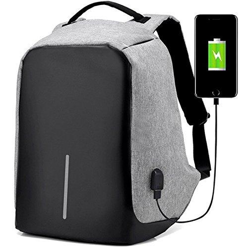 Rewy Unisex Multi-Functional Grey Backpack AB_5673