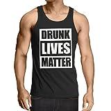 lepni.me Singlete Drunk Lives Matter Funny Saint Patricks Vêtements de Jour de St Patty (X-Large Noir Multicolore)
