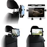 Navitech tragbar In Auto Kopfstütze / Rücksitz Schwarz Expandable feste Griff Halterung für die Simbans TangoTab 10 Inch Tablet