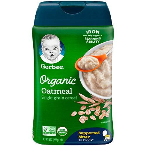 Gerber Organic Single-Grain Oatmeal Baby Cereal, 8 oz (Pack of 6) by Gerber Graduates