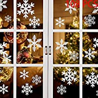 108 PZ Natale Adesivi Finestre Finestra Decorazione Natale Rimovibile Natale Vetrofanie Adesivi Murali Fai da te Finestra Decorazione Vetrina Wallpaper fiocco di neve