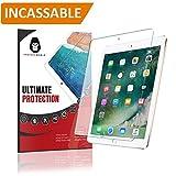 PROTECK 【Nouveau】 Film de Protection d'écran pour iPad 9.7 -【Incassable】+【Anti-Rayures】+【Facile à Installer】 pour iPad 9.7' (2018 & 2017) / iPad Pro 9.7 / iPad Air 2 / iPad Air