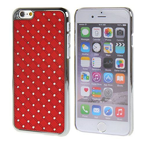 "MOONCASE iPhone 6 (4.7"") Case Bling Chrome Hard Shell Cover Housse Coque Etui Case pour Apple iPhone 6 (4.7"") Rouge Rouge"