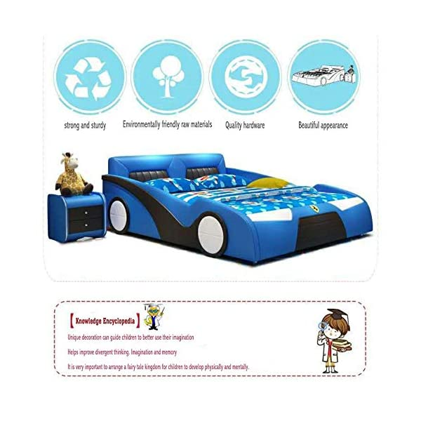LJ Home Baby Single Bed The Baby Kids Bed Toddler Car Junior Bed With Mattress LJ Home Product certified for low chemical emissions Product certified for reduced environmental impact Suitable for children up to the weight of 100 kg Very quick and easy to put together 4