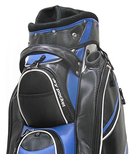 Motor Caddy Golf Cart Bag Bag Waterproof Material And Dry Pocket – Black/Blue