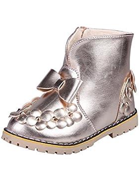 OYSOHE Kinder warme Jungen Mädchen Bowknot Floral Sneaker Stiefel Kinder Baby Freizeitschuhe