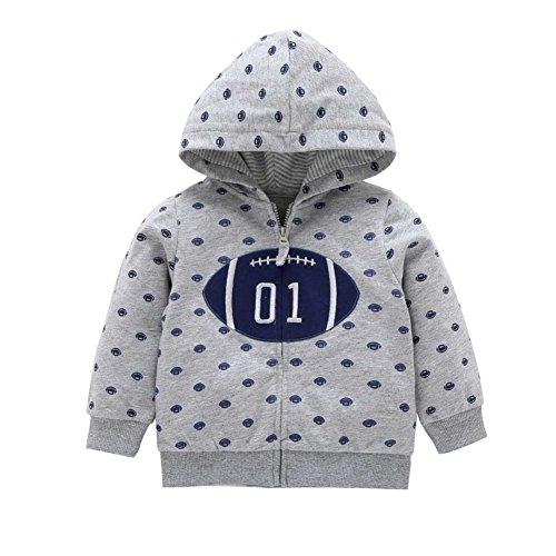 Jacke für Baby Mädchen und Jungen Oberbekleidung Kapuzenmantel 0-24 Monate von Bornbayb
