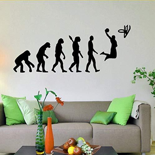 Preisvergleich Produktbild Wuyyii Basketball Evolution Wall Decal Ball Spiel Vinyl Aufkleber Sport Home Interior Wandmalereien Wand Vinyl Grafiken Wandaufkleber 58X24Cm