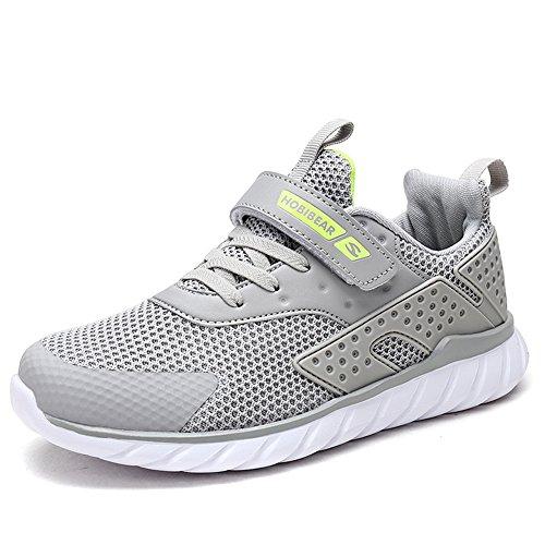XIAO LONG Turnschuhe Kinder Sneaker Jungen Sportschuhe Mädchen Hallenschuhe Outdoor Laufschuhe Für Unisex-Kinder, Grau, EU25/CN26