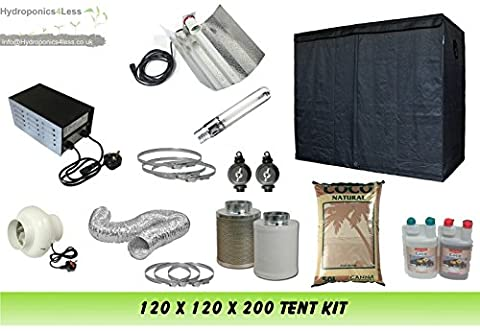 Grow Tent 120 & Grow Light 600w & 4