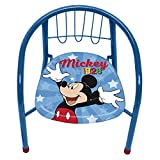 ARDITEX WD13013 Silla de Metal de 35.5x30x33.5cm de Disney-Mickey