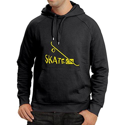Felpa con cappuccio Skate ON ! Nero Giallo