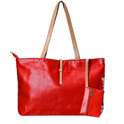 Culater® Femmes Mode Marque Casual Sacs à Bandoulière Rouge
