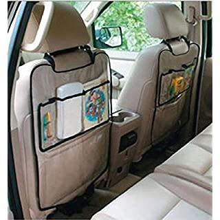 Malloom® Car Auto Seat Back Protector Cover For Children Kick Mat Storage Bag(Clear)