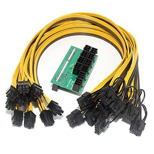 8 Video-splitter Modul (Breakout Board + Kabel, Starall Netzteil Breakout Board + 100 Kabel Für HP 1200 W/750 W Power Modul Bergbau Ethereum)