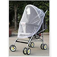 Mosquito Net for Strollers, Mosquito Net for Car Seat and Infant Carrier, Universal Size, Bug Cover, Weather Protection, White