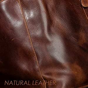 Scotch & Vain bolso para hombro YALE - piel genuina marrón - cartera - pequeño - Bolso para señoras (27 x 20 x 7 cm)