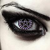 Designlenses farbige Pentagramm Kontaktlinsen für Halloween Crazy