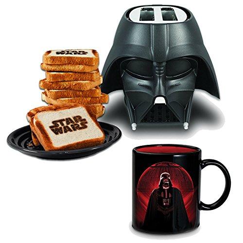 Set de Desayuno Star Wars : Tostadora Darth Vader y Taza Estrella de la Muerte