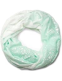 styleBREAKER écharpe tubulaire, imprimé floc à motifs de cercles, points et  fleurs de pissenlits 02d67a1a441