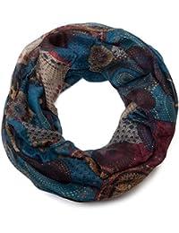 styleBREAKER écharpe tubulaire étincelante, dessin ethnique à motifs de  cercles, points et scintillements, 4245a05b5f1