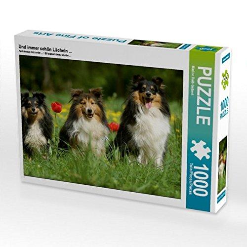 Und immer schön Lächeln ... 1000 Teile Puzzle quer (CALVENDO Tiere) Preisvergleich