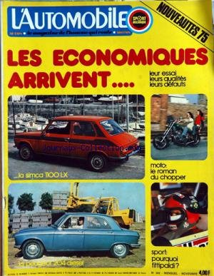 AUTOMOBILE (L') [No 342] du 01/11/1974