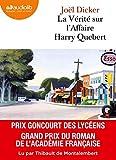La Vérité sur l'affaire Harry Quebert - Livre audio 2 CD MP3 - Audiolib - 20/03/2013