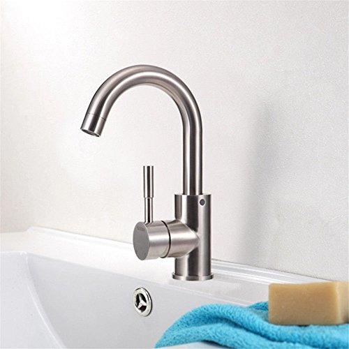 YSRBath Moderne Waschbecken Waschtischarmatur Antike Panel Keyboard Gebürstet Heiß und Kalt Mischbatterie Bad Küche Wasserhahn Badarmatur